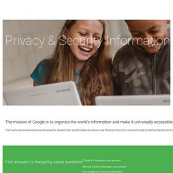 Google for Education: Tools schools can trust
