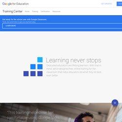 Google for Education: Training Center