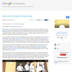 Welcome to the Google for Education blog