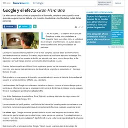 Google y el efecto Gran Hermano
