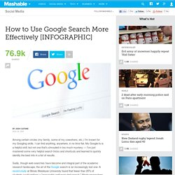 How to Use Google Search More Effectively [INFOGRAPHIC] - Summify