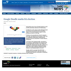Google Doodle marks SA election:Wednesday 7 May 2014