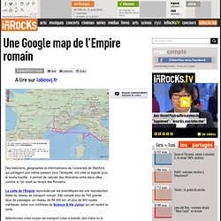 Une Google map de l'Empire romain