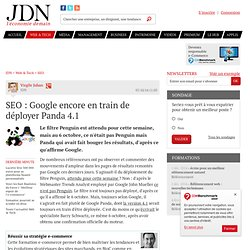 SEO : Google encore en train de déployer Panda 4.1