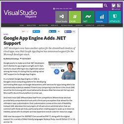 Google App Engine Adds .NET Support