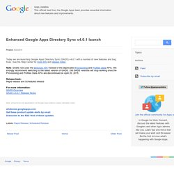 Enhanced Google Apps Directory Sync v4.0.1 launch
