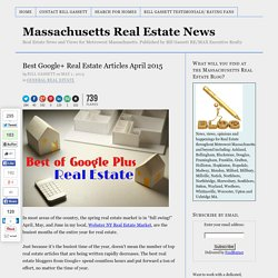 Best Google+ Real Estate Articles April 2015