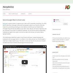 Send Google Mail to Evernote - HarryOnline