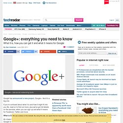Google+: everything you need to know
