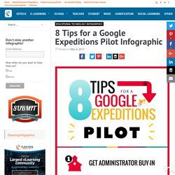 8 Tips for a Google Expeditions Pilot Infographic