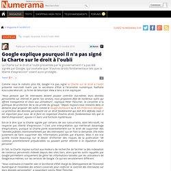 Google explique pourquoi il n'a pas signé la Charte sur le droit à l'oubli