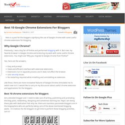 Best 10 Google Chrome Extensions For Bloggers