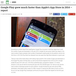 Google Play grew much faster than Apple's App Store in 2014 - report