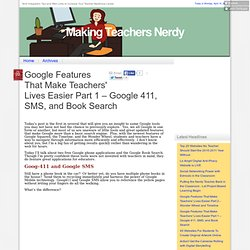 Google Features That Make Teachers' Lives Easier Part 1 – Google