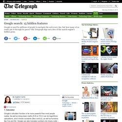 Google search: 15 hidden features