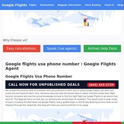 Google flights usa phone number : Google Flights Agent