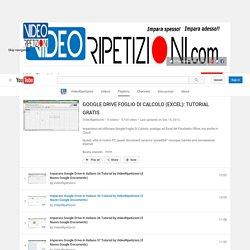 Videoripetizioni: Google Drive Foglio Calcolo: tutorial