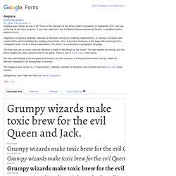 Google Fonts Alegreya