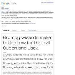 Google Fonts Jura