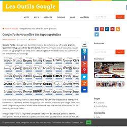 Google Fonts vous offre des typos gratuites