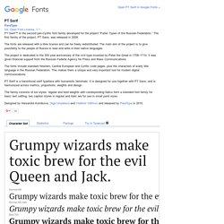 Google Fonts PT Serif