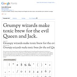 Fonts Sorts Mill Goudy
