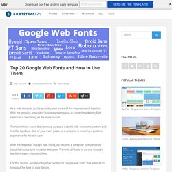 Top 20 Google Web Fonts and How to Use Them