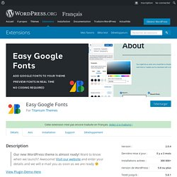 Easy Google Fonts — WordPress Plugins