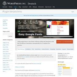 Easy Google Fonts — WordPress Plugins