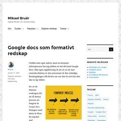 Google docs som formativt redskap