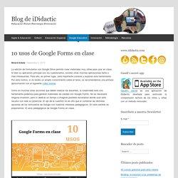 10 usos de Google Forms en clase