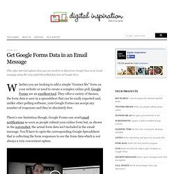 How to Get Google Docs Form Data in an Email Message