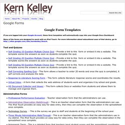 Google Forms - Kern Kelley