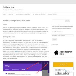 5 Uses for Google Forms in Schools