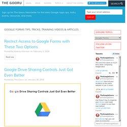 Google Forms Training Videos