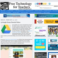 13 Google Forms Tutorial Videos