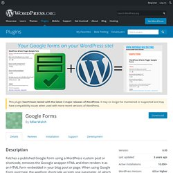 WordPress Google Form