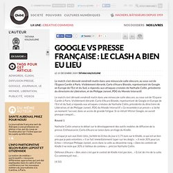 Google vs presse française : le clash a bien eu lieu
