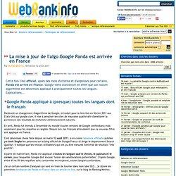 Enfin ! Google Panda en France (officiel) et le monde entier