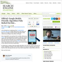 Google: Google Mobile Friendly Algorithm Fully Rolled Out