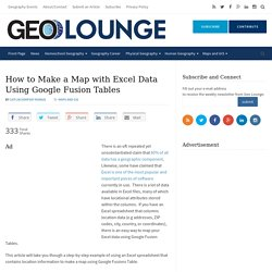 How to Make a Map with Excel Data Using Google Fusion Tables - Geolounge