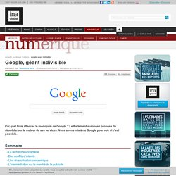 Google, géant indivisible