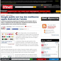 Google Play : le géant du Web publie son best of des applis 2014