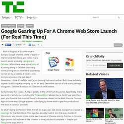 Google Gearing Up For A Chrome Web Store Launch (For Real This Time)