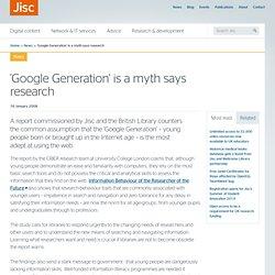 Google generation rubuttal JISC