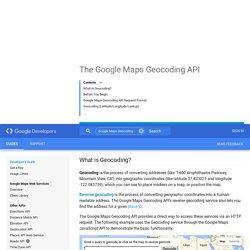 The Google Maps Geocoding API