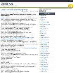 Géolocaliser Wikipédia dans Google Maps