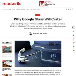 Why Google Glass Will Crater