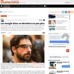 Des nouvelles des Google Glass