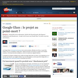 Google Glass, le projet au point-mort